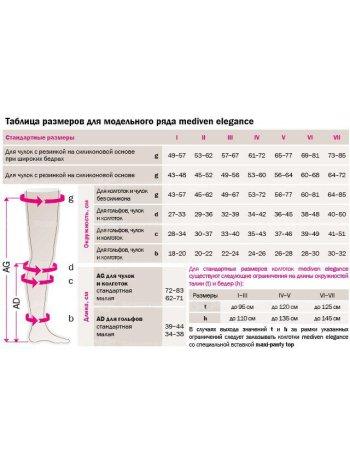 Чулки с кружевной резинкой Mediven ELEGANCE (AG - 62 - 71 см) - I класс
