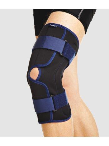Бандаж на колено ортопед. с полицентрическими  шарнирами, разъемный RKN-203