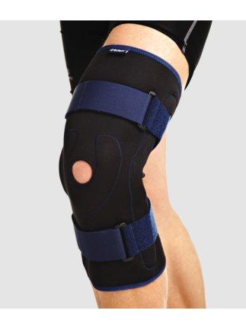Бандаж на колено ортопедический с полицентрическими  шарнирами RKN-202