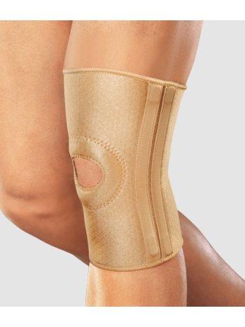 Бандаж на колено с фиксир. подушкой, отверст. и спирал. ребрами RKN-103(M)