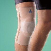 Бандаж на коленный сустав (наколенник) полужесткий с силиконовым кольцом 2438