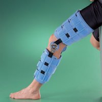 Бандаж на коленный сустав (наколенник) регулируемый, жесткий, высота 45,7 см 4039-18