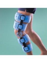 Бандаж на коленный сустав (наколенник) регулируемый, жесткий, высота 51 см 4139