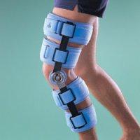 Бандаж фиксирующий на коленный сустав (наколенник) регулируемый, высота 51 см 4139