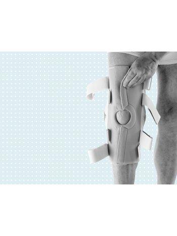 Шарнирный коленный ортез Genu Neurexa разъемный 8165