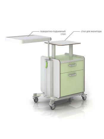 Тумбочка СН 300.00.04 прикроватная с подъемно-поворотным столиком