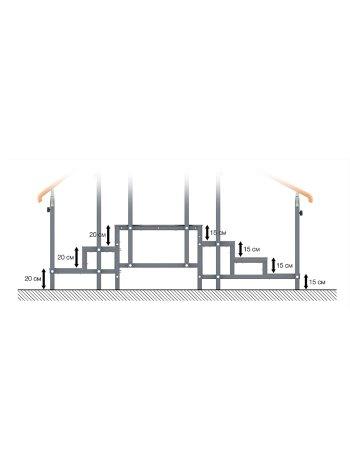 Комплект приспособлений реабилитационных для занятий в ЛФК СН-70.02 (горка для ходьбы взр.)