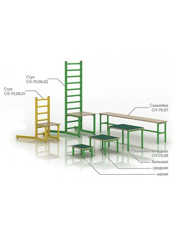 Комплект приспособлений реабилитационных для занятий в ЛФК СН 70.06.02 (стул)