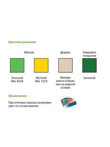 Комплект приспособлений реабилитационных для занятий в ЛФК СН 70.08 (скамейки-вкладыши, набор из 3 шт.)