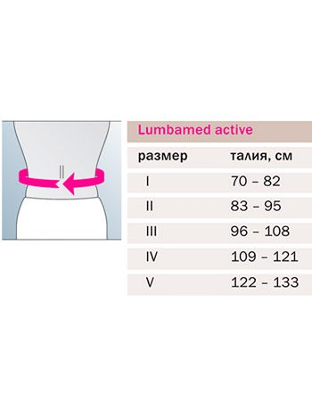 Бандаж поясничный облегченный LUMBAMED ACTIVE - черный