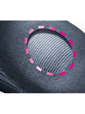 Бандаж коленный с силиконовым пателлярным кольцом и ремнями GENUMEDI PLUS - серый