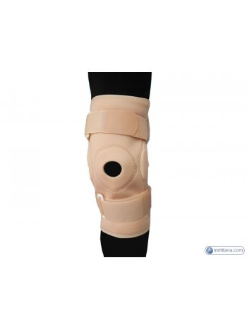 Бандаж на коленный сустав фиксирующий с ребрами жесткости и отверстием BKFO C1KN-901